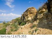 Купить «Желтые скалы из ракушечника», фото № 2675353, снято 1 июля 2011 г. (c) Борис Панасюк / Фотобанк Лори