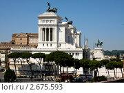 Купить «Рим, руины форума и рынка Траяна, вид на монумент Витториано», фото № 2675593, снято 25 июня 2011 г. (c) Наталья Белотелова / Фотобанк Лори
