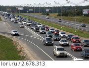 Автомобильная пробка на трассе (2011 год). Редакционное фото, фотограф Дмитрий Куш / Фотобанк Лори