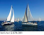 Купить «Парусные яхты в Средиземном море», фото № 2678381, снято 19 августа 2018 г. (c) Шутов Игорь / Фотобанк Лори