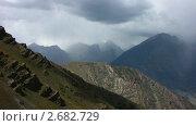 Купить «Серые облака над горами», видеоролик № 2682729, снято 9 сентября 2010 г. (c) Юрий Пономарёв / Фотобанк Лори