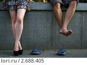 Пара ног. Стоковое фото, фотограф Станислав Ступак / Фотобанк Лори