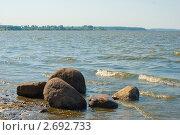 Камни на берегу Волги. Стоковое фото, фотограф Ларионов Олег / Фотобанк Лори