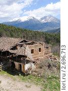 Купить «Старая постройка в горах. Коринфос», фото № 2696713, снято 10 апреля 2011 г. (c) EXG / Фотобанк Лори