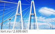 Вантовый мост. Стоковое фото, фотограф Анна Груздева / Фотобанк Лори