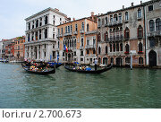 Венецианский канал и гондолы (2011 год). Редакционное фото, фотограф Стрельникова Татьяна / Фотобанк Лори