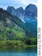 Купить «Летний горный пейзаж (озеро Гозау, Австрия)», фото № 2706769, снято 4 июня 2011 г. (c) Юрий Брыкайло / Фотобанк Лори