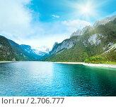 Купить «Летний горный пейзаж (озеро Гозау, Австрия)», фото № 2706777, снято 4 июня 2011 г. (c) Юрий Брыкайло / Фотобанк Лори