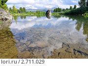 Купить «Горное озеро, Горный Алтай», фото № 2711029, снято 18 июля 2011 г. (c) Анна Мартынова / Фотобанк Лори