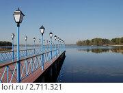 Пристань на Валдайском озере (2008 год). Редакционное фото, фотограф Екатерина Егоркина / Фотобанк Лори