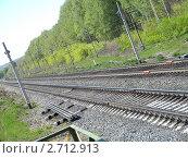 Железная дорога. Стоковое фото, фотограф Айрат Галлямов / Фотобанк Лори