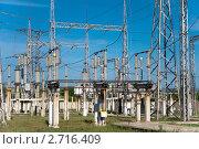 Купить «Открытое распределительное устройство 220 кВ», фото № 2716409, снято 11 августа 2011 г. (c) Геннадий Соловьев / Фотобанк Лори