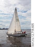 Парусная яхта в Финском заливе (2011 год). Редакционное фото, фотограф Кекяляйнен Андрей / Фотобанк Лори