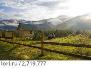 Раннее утро в горах Алтая (2011 год). Редакционное фото, фотограф Виктор Ковалев / Фотобанк Лори
