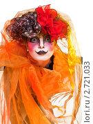 Купить «Женщина мим с театральным гримом», фото № 2721033, снято 25 апреля 2019 г. (c) Маргарита Бородина / Фотобанк Лори