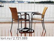 Круизное ненастье (фокус на кресле) Стоковое фото, фотограф Сергей Разживин / Фотобанк Лори