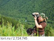 Купить «Девушка-фотограф в горах», фото № 2724745, снято 15 июля 2011 г. (c) Яков Филимонов / Фотобанк Лори