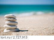 Груда белых камней на тропическом пляже. Стоковое фото, фотограф Анна Лисовская / Фотобанк Лори