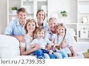 Купить «Портрет счастливой семьи», фото № 2739353, снято 4 июня 2011 г. (c) Raev Denis / Фотобанк Лори