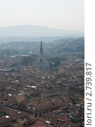 Вид на Базилику Санта-Кроче, Флоренция (2011 год). Стоковое фото, фотограф Сергей Алямовский / Фотобанк Лори