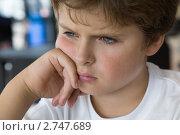 Грустный мальчик. Стоковое фото, фотограф Ольга Шевченко / Фотобанк Лори