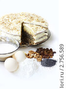 Купить «Домашний торт, продукты», фото № 2756589, снято 29 августа 2011 г. (c) Лилия / Фотобанк Лори