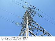 Купить «ЛЭП», фото № 2757197, снято 29 августа 2011 г. (c) Мастепанов Павел / Фотобанк Лори
