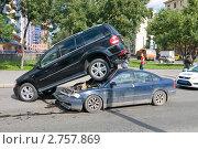 Купить «Необычное ДТП», эксклюзивное фото № 2757869, снято 26 августа 2011 г. (c) Александр Алексеев / Фотобанк Лори