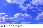 Купить «Облака на голубом небе. Таймлапс», видеоролик № 2758909, снято 25 марта 2010 г. (c) Андрей Некрасов / Фотобанк Лори