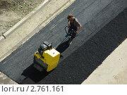 Ремонт дорожного покрытия. Асфальтирование. Стоковое фото, фотограф GPeshkova / Фотобанк Лори