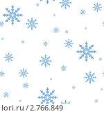Бесшовный узор из снежинок. Стоковая иллюстрация, иллюстратор Татьяна Гришина / Фотобанк Лори