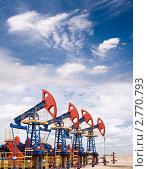 Купить «Нефтяное месторождение», фото № 2770793, снято 12 июня 2010 г. (c) Георгий Shpade / Фотобанк Лори