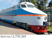 Купить «Головной вагон скоростного электропоезда ЭР-200», фото № 2776341, снято 26 августа 2011 г. (c) Абрамов Роман Николаевич / Фотобанк Лори