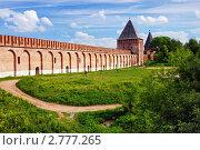 Крепостная стена и башни смоленской крепости (2006 год). Редакционное фото, фотограф Михаил Марковский / Фотобанк Лори