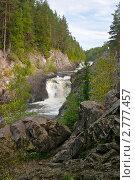 Купить «Равнинный водопад Кивач на реке Суна», эксклюзивное фото № 2777457, снято 18 августа 2007 г. (c) Родион Власов / Фотобанк Лори