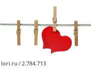 Купить «Два сердечка на веревке», фото № 2784713, снято 9 сентября 2011 г. (c) Игорь Веснинов / Фотобанк Лори