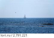 Парусник в море. Стоковое фото, фотограф Екатерина Усынина / Фотобанк Лори