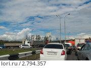 Купить «Москва. В автомобильной пробке», эксклюзивное фото № 2794357, снято 3 сентября 2011 г. (c) Lora / Фотобанк Лори