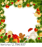 Купить «Новогодняя рамка», иллюстрация № 2794937 (c) Костенюкова Наталия / Фотобанк Лори