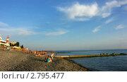 Купить «Пляж. Берег мозя. Таймлапс.», видеоролик № 2795477, снято 16 июня 2010 г. (c) Юрий Пономарёв / Фотобанк Лори