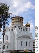 Строительство православного Храма святой Троицы, г. Реутов (2011 год). Редакционное фото, фотограф Марков Николай / Фотобанк Лори