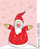 Купить «Забавный Дед Мороз», иллюстрация № 2803909 (c) Евгения Малахова / Фотобанк Лори