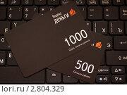 Карты Яндекс-денег на клавиатуре, эксклюзивное фото № 2804329, снято 18 сентября 2011 г. (c) Константин Косов / Фотобанк Лори