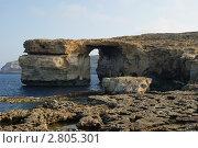 Малта. Остров Гозо. Природная арка (2011 год). Стоковое фото, фотограф Александр Карябин / Фотобанк Лори