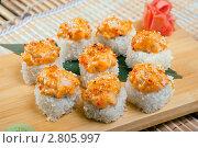 Купить «Японская кухня, набор суши», фото № 2805997, снято 6 сентября 2011 г. (c) Александр Fanfo / Фотобанк Лори