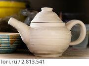 Глиняный чайник. Стоковое фото, фотограф Кирьянова Наталия / Фотобанк Лори