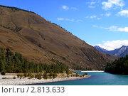 Река Катунь в горах. Стоковое фото, фотограф Кирьянова Наталия / Фотобанк Лори