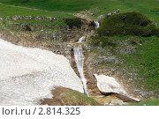 Купить «Водопад на притоке реки Курджипс,плато Лагонаки, Адыгея», фото № 2814325, снято 9 апреля 2011 г. (c) Оглоблин Андрей Николаевич / Фотобанк Лори