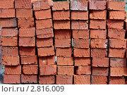 Купить «Красные кирпичи», фото № 2816009, снято 12 ноября 2019 г. (c) Надежда Никитина / Фотобанк Лори