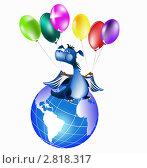 Купить «Синий дракон- символ Нового 2012 года по восточному календарю», иллюстрация № 2818317 (c) Сергей Гавриличев / Фотобанк Лори